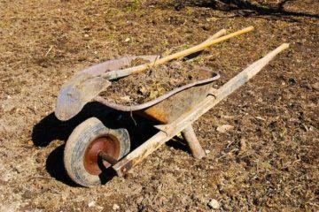 a-wheelbarrow-on-a-field-1207416